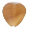 Glass Pressed Beads 10x10mm Heart Nut Brown Matt